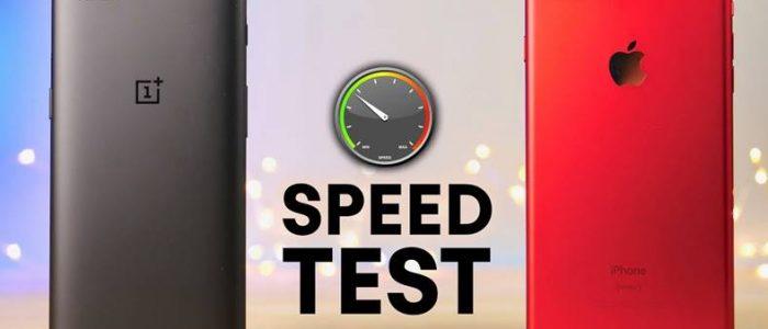 OnePlus 5 bate iPhone 7 Plus in noile teste de viteza