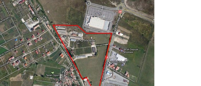Vindem teren intravilan Sibiu ideal pentru hypermarket